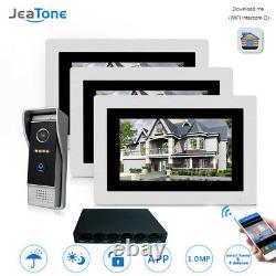 07 inch WIFI IP Video Door Phone Intercom Touch Screen Motion Detection 1 to 3