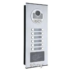 12 Apartment/Family 7 inch Video Door Phone Intercom System Door Entry Systems