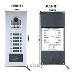 12 Monitor Video Door Phone Intercom RFID Record Wired Wifi 12 Apartment Family