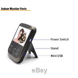 2.4G Wireless video door phone with intercom system 1 camera with 2 monitors