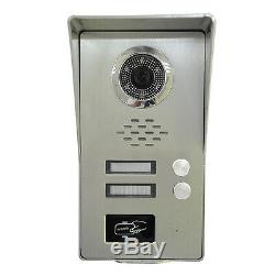 2 Units Apartment intercom 9 LCD Record Video Door Phone doorbell RFID Keyfobs