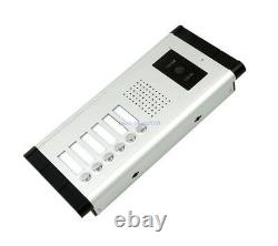 6-Monitor 7 LCD Wired Video Door Phone Intercom Doorbell Systems Magnetic Lock
