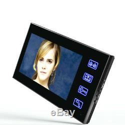 7LCD Touch Monitor Wired Video Intercom Door Phone System+Electronic Door Lock