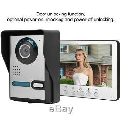 7 LCD Door Video Phone Wired Intercom Doorbell Night Vision Home Entry System