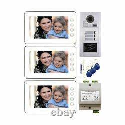 7 LCD Monitor Wired Video Door Phone Doorbell Security Home Intercom System wit