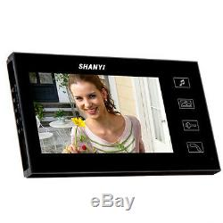 7 LCD Video Door Phone Intercoms System with 4G SD Card 1 Camera 3 Monitors
