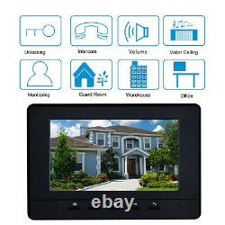 7 Monitor 8 Units Apartment Intercom system Video Door Phone for 8 Household