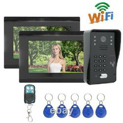 7 TFT LCD Monitor Wired Color Video Door Phone Doorbell Home Intercom System