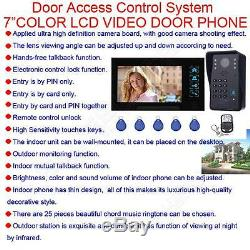 7 Touch Panel Video Monitor Gate Access Intercom Door Bell Phone Security Camer