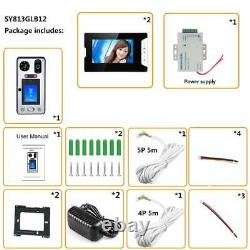7''Video Door Phone Doorbell System with Face Recognition/Fingerprint RFIC Wired