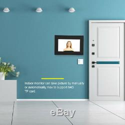 7 Wifi Touch Screen Wired Video Camera Door Phone Ring Intercom Doorbell System