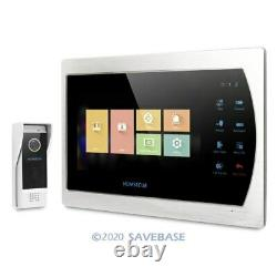 7 Wired Video Door Phone Intercom System with Waterproof Camera for Apartment
