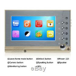 7 in Video Intercom Apartment Wired Door Phone Audio Visual Entry System 4 Units
