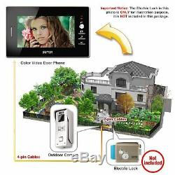 7 inch Video Door Phone Home House Gate Intercom with 2 Silver Cameras