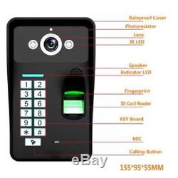 9 Inch Wired Wifi Fingerprint RFID Password Video Door Phone Doorbell Intercom