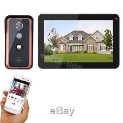 9'' Wired Wifi Video Door Phone Doorbell Intercom Entry System with Camera