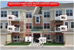 AMOCAM Video Intercom Entry System, Wired 7 inches LCD Monitor Video Door Phone