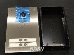 Aiphone IX-DVF-4 Vandal-Resistant Flush-Mounted 4 Buttons Video IP Door Phone