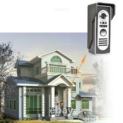 Apartment 2 Unit Intercom Entry System Wired Video Door Phone 7'' Night Vision