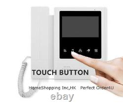 Apartment 2-Unit Wired Video Door Phone 4.3'' Audio Visual Intercom Entry System
