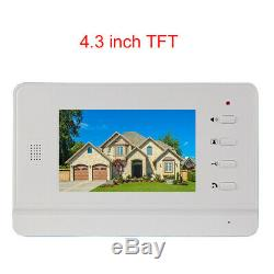 Apartment 3 Unit Intercom Entry System Wired Video Door Phone Audio Visual 4.3