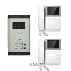 Apartment Wired Video Door Phone 4.3'' Audio Visual Intercom Entry System 2 Unit