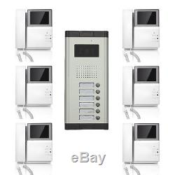 Apartment Wired Video Door Phone 4.3'' Screen Audio Visual Intercom Entry System