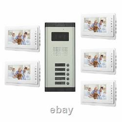 Apartment Wired Video Door Phone Audio Visual Intercom Entry System 2 to 12 Unit