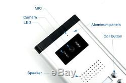 Apartment Wired Video Door Phone Audio Visual Intercom Entry System 5 Units