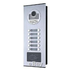 Apartment Wired Video Door Phone RFID HID Card Visual Intercom System 10 Units