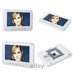 Apartment Wired Video Door Phone RFID HID Card Visual Intercom System 8 Units