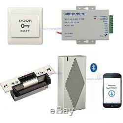 Bluetooth Entry System Kits use phone to open door ANSI Strike Lock Power Supply