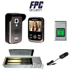 FPC-5071 Access Control 1200lb Maglock Kit with Wireless Video Door Phone