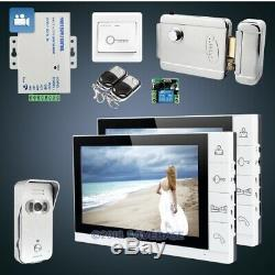 HOMSECUR 9 Wired Hands-free Video Door Phone Intercom System+Silver Camera 1C2M