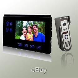 Home Video Door Phone Intercom Monitor Kit Colour Touch Key + Memory Function