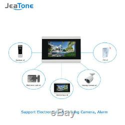 Jeatone 7'' Touch Screen Wireless WIFI IP Video Door Phone Intercom System1 to 3