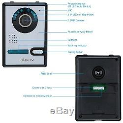 KKmoon 7 Inch Video Door Phone Doorbell Entry Intercom System Kit with 1-came