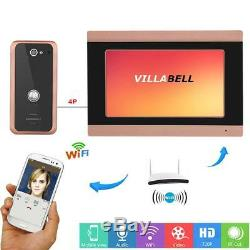 Night Vision Video Door Phone Doorbell Intercom Entry System Wired Wifi 1000TVL