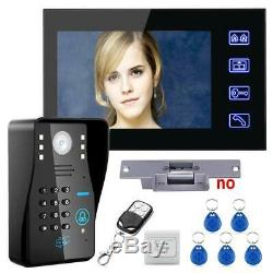 Smart Home Control Video Door Phone Intercom System Kit+ Electric Strike Lock