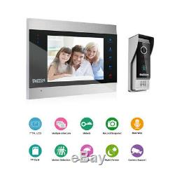 TMEZON Video Door Phone Doorbell Intercom System 7 LCD Monitor 1200TVL Camera