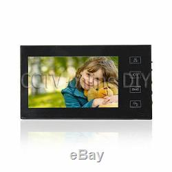 Ultra-thin Home 7 TFT LCD Color Video Door Phone Intercom System with Touch Key