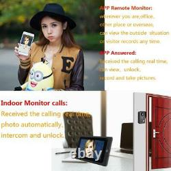 Video Door Phone Intercom System Night Vision Wired Wifi 3Apartments Doorbell