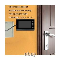 Video Intercom System, 7 inches Monitor Wired Video Door Phone Doorbell Kits