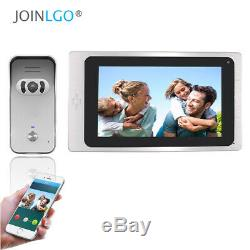 WIFI 7 Touch Screen Video Intercom Door Phone Record System Remote View Unlock