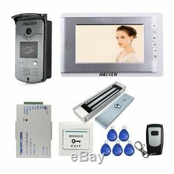 Wired 7 Video Door Phone Intercom Entry System 1 Monitor + 1 RFID Access Camera