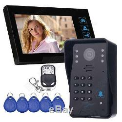 Wired Camera 7 Touch Panel Video Monitor Gate Access Intercom Door Bell Phone