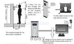 Wired Home 7'' Color Video Door Phone Intercom Systems with 10 Monitor 1 Camera