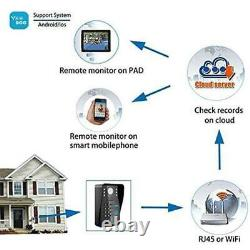 Wireless WIFI RFID Video Intercom Door Bell Phone 1MP Home Security Systems