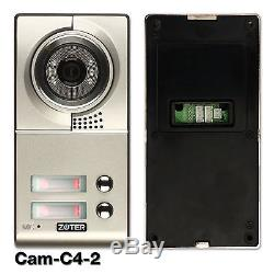 ZOTER 7 LCD Screen Wired Video Door Bell Phone Home Intercom for 2 Families